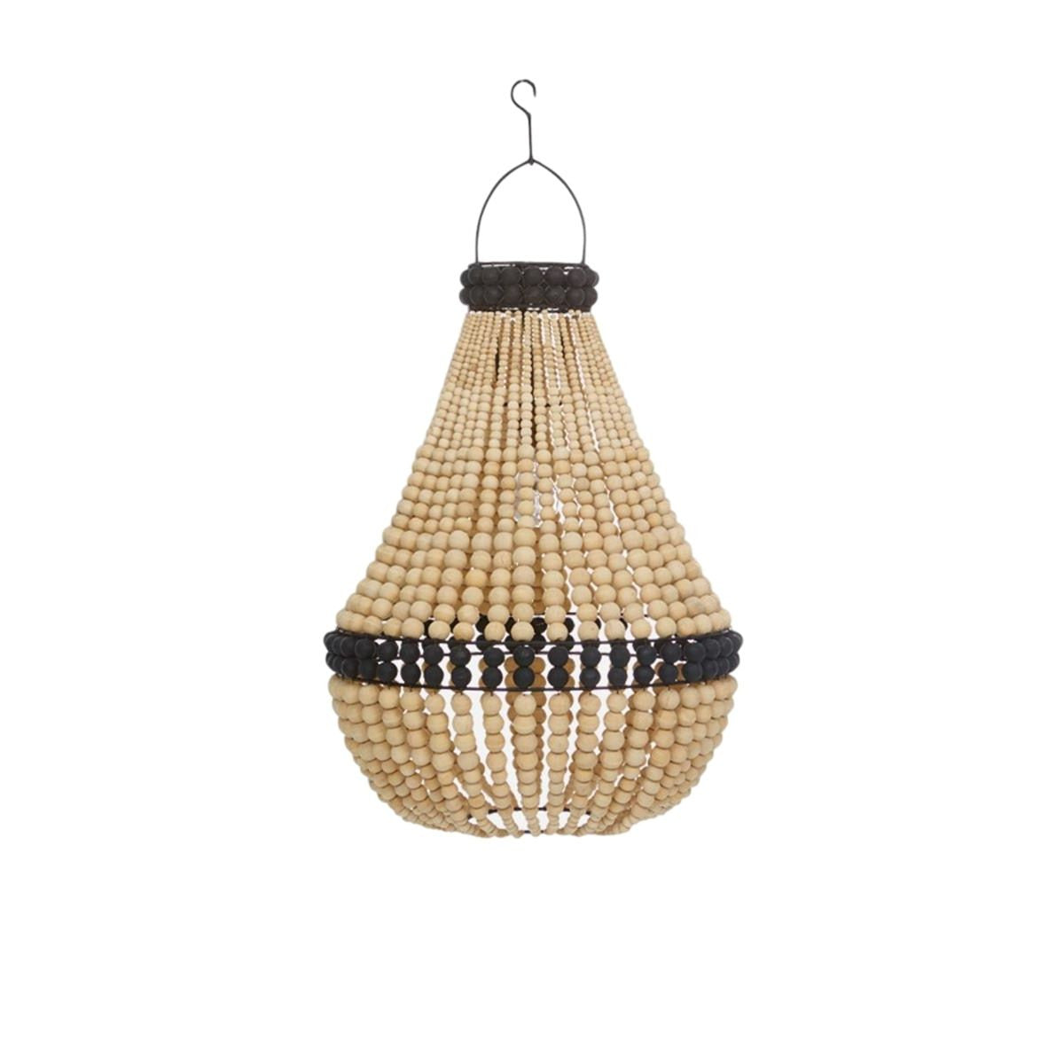 Wooden bead chandelier maissone aloadofball Image collections