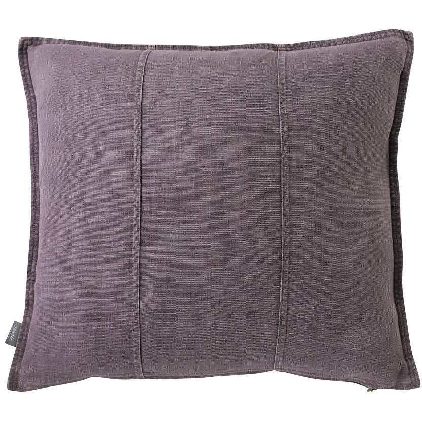 Luca Linen Square Cushion Aubergine - Maissone