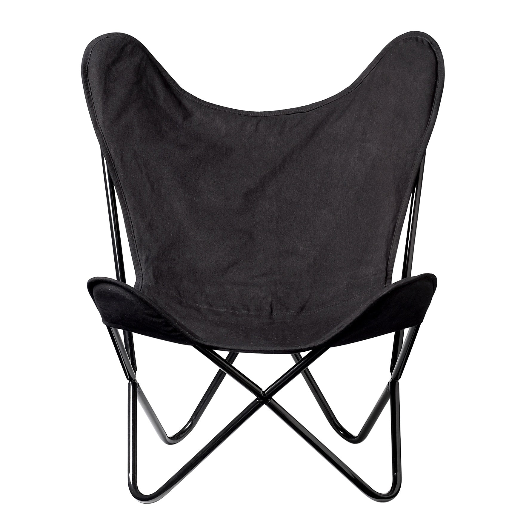 Butterfly Chair Black Cotton