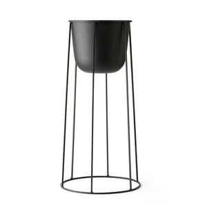 Wire Base and Pot Large, Black
