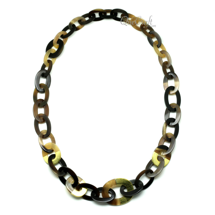 Horn & Lacquer Chain Necklace 96cm