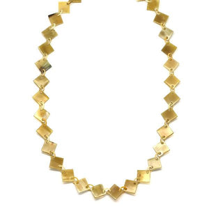 Horn Chain Necklace Dimond Natural