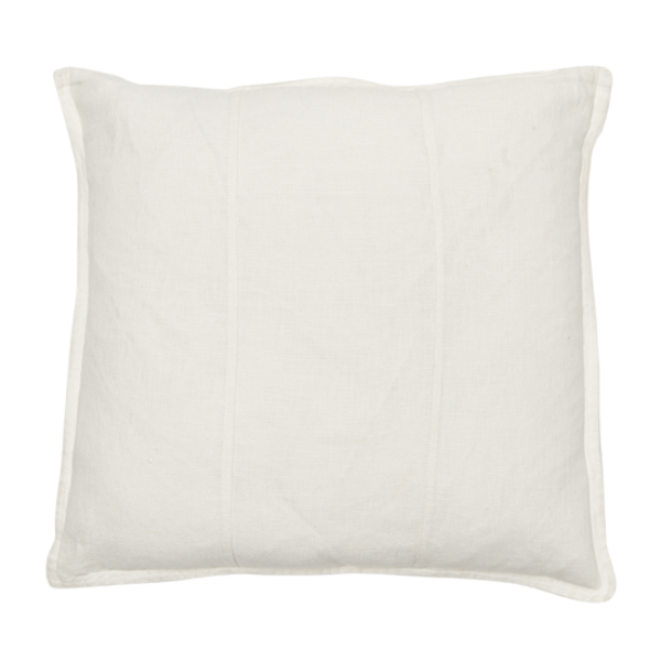 Luca Linen Square Cushion White - Maissone - 1