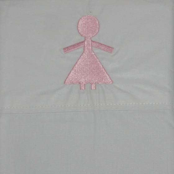 Pillowcase Embroidered Paperdoll - Maissone