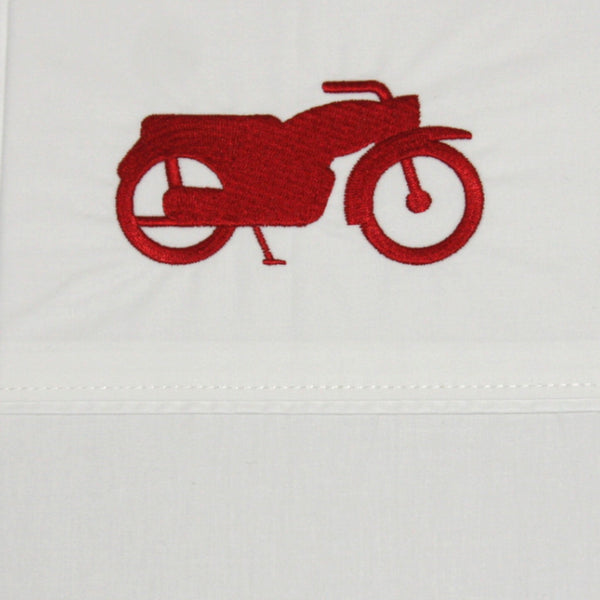Pillowcase Embroidered Motorbike - Maissone