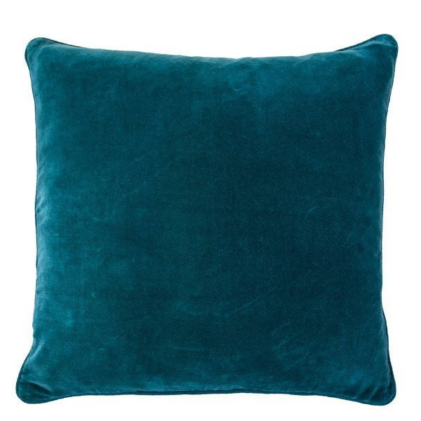 Lynette Cushion with Linen Piping Ocean - Maissone