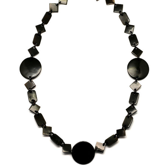 Horn Chain Necklace Black - Maissone