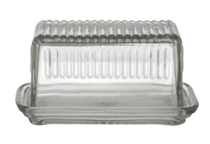 Glass  Butter Dish - Maissone