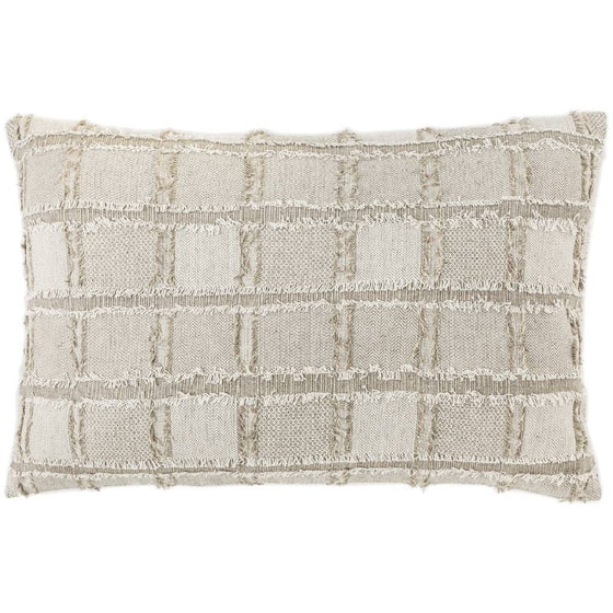 Bedu Cushion Linen fringed Rectangle Natural - Maissone