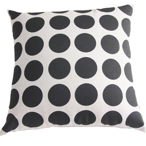 Cushion Black Spot/Natural Linen - Maissone
