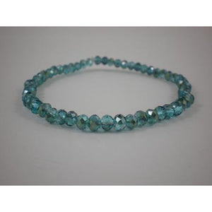Bracelet With 4Mm Crystal - Teal - Maissone
