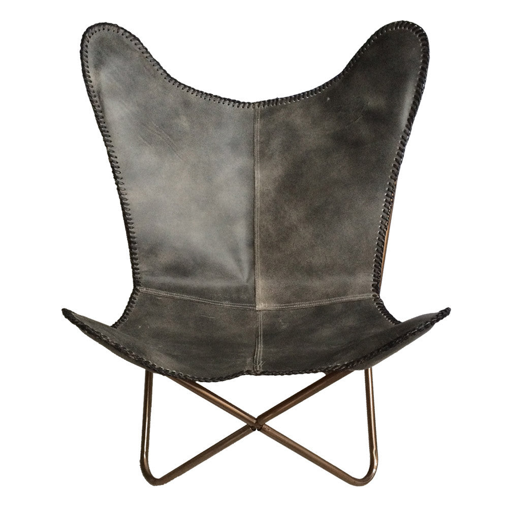 Leather Butterfly Chair - Maissone