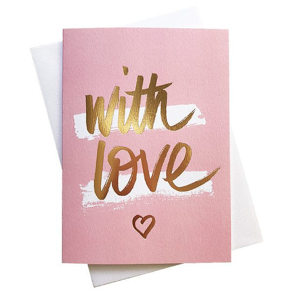 Card With Love Pink - Maissone