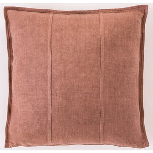 Luca Linen Square Cushion Desert Rose - Maissone