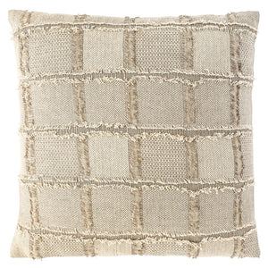 Bedu Cushion Linen fringed Square Natural - Maissone