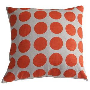 Cushion Orange Spot/Natural Linen - Maissone