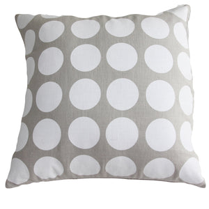 Cushion White Spot/Natural Linen - Maissone