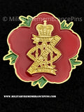 13th 18th Royal Hussars Remembrance Flower Lapel Pin
