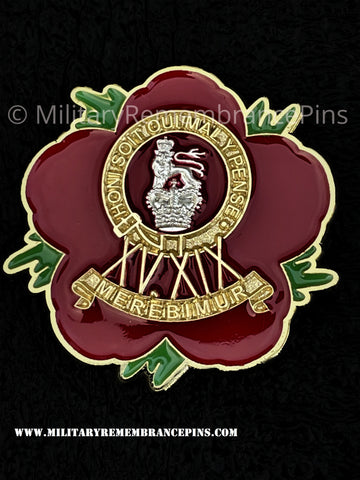 15th 19th King's Royal Hussars Remembrance Flower Lapel Pin