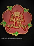 16th 5th The Queen's Royal Lancers Remembrance Flower Lapel Pin