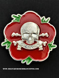 17th 21st Lancers Remembrance Flower Lapel Pin
