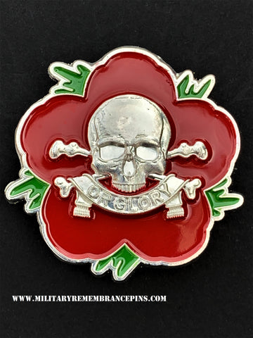 Queen's Royal Lancers Remembrance Flower Lapel Pin