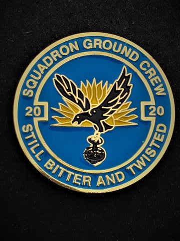 20 Sqn RAF Royal Air Force Ground Crew Colours Lapel Pin