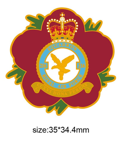 216 Sqn Royal Air Force RAF Remembrance Flower Lapel Pin