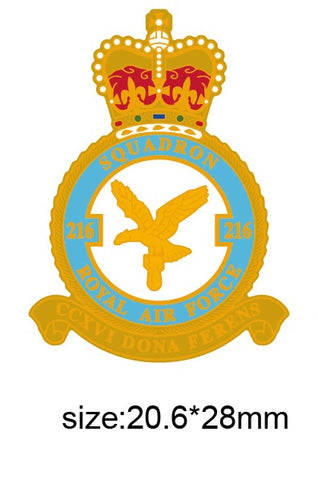216 Sqn Royal Air Force RAF Squadron Lapel Pin