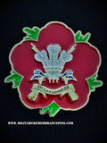 3rd Carabiniers Prince of Wales's Dragoon Guards Remembrance Flower Lapel Pin