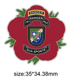 75th Ranger Regiment Remembrance Flower Lapel Pin