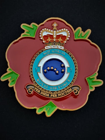 7 Sqn Royal Air Force Remembrance Flower Lapel Pin