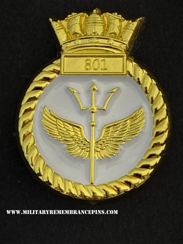 801 NAS Naval Air Squadron Royal Navy Unit Lapel Pin