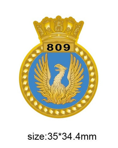 809 Naval Air Sqn Royal Navy Unit Crest Lapel Pin