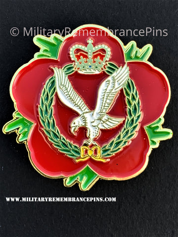Army Air Corps AAC Remembrance Flower Lapel Pin