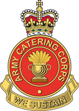 Army Catering Corps ACC Remembrance Flower Lapel Pin