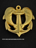 Anchored Dolphins Sweetheart Lapel Pin