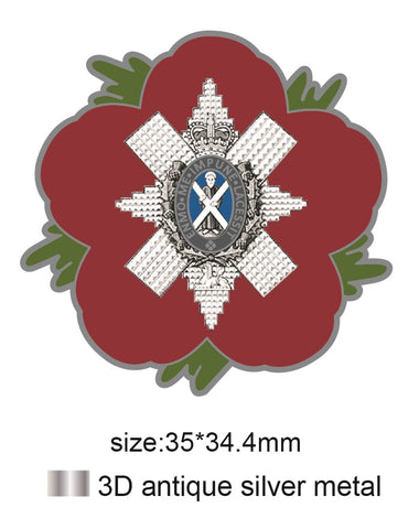 Black Watch 3 SCOTS Remembrance Flower Lapel Pin