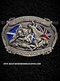 British By Birth Scottish By The Grace Of God Lapel Pin