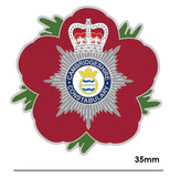Cambridgeshire Constabulary Remembrance Flower Lapel Pin