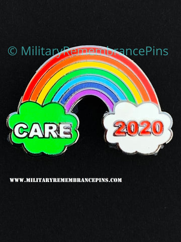 Care Workers Rainbow 2020 Support Lapel Pin