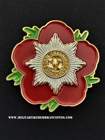 Cheshire Regiment Remembrance Flower Lapel Pin