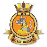 Chockheads Aircraft Handlers Once A Rat Always A Rat Crest Lapel Pin