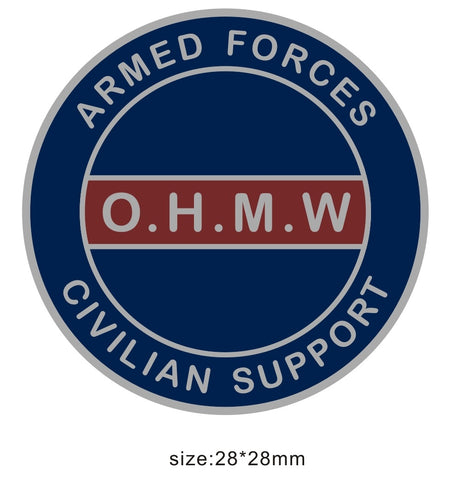 Civilian Support Armed Forces OHMW Colours Lapel Pin