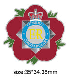 Cumbria Constabulary Remembrance Flower Lapel Pin