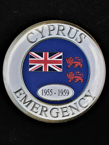 Cyprus Emergency Veteran Colours Lapel Pin
