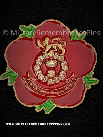 Duke of York Royal Military School Remembrance Flower Lapel Pin