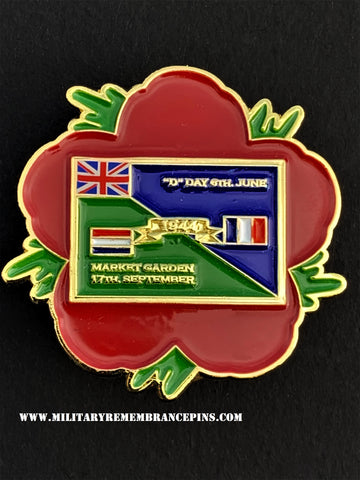 1944 Alliance Remembrance Flower Lapel PIn