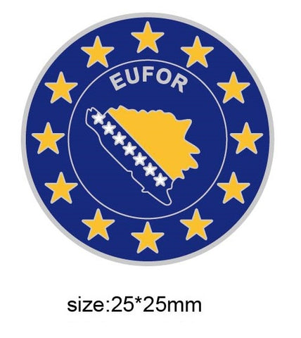 EUFOR European Union Military Operations Lapel Pin