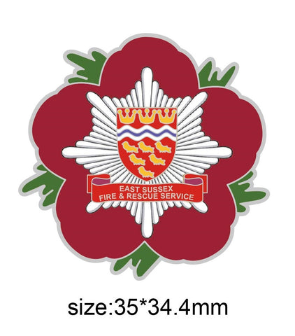East Sussex Fire & Rescue Remembrance Poppy Pin